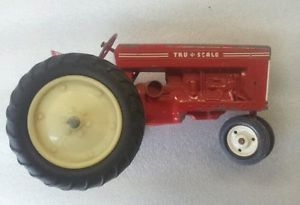 Old Antique Tru Scale Toy Tractor 1 16 Scale Farm Plow Vtg Tin Kids