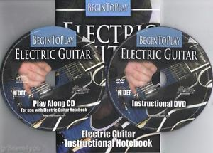 Learn to Play Electric Guitar Instruction CD DVD New