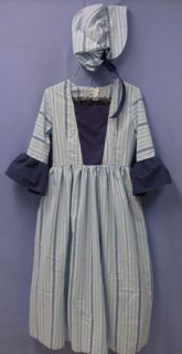 Pioneer Colonial Prairie Civil War Era Victorian Costume Dress Kids 10 12 9649