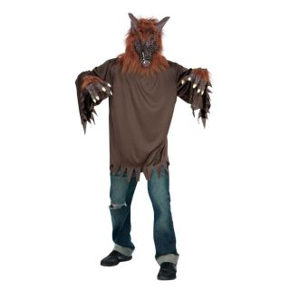 Brown Wolf Costume Animal Little Red Riding Hood Werewolf Men Women Easy