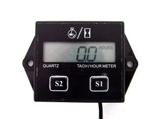 Tachometer Hour Meter 2 4 Stroke Gas Engine Lawn Mower Chainsaw Scooter GoKart