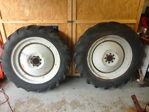 Ford 8N Rear Tires Rims Hubs 11x28 10x28 in Michigan