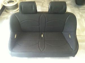 "Yamaha Rhino Rear Bench Seat Black Tweed w Head Rest 42"" Wide Easy Cleaning"
