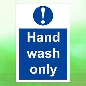 ★ Hand Wash Only Sticker Kitchen Health Safety Hygiene Caution Restaurant Sign