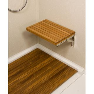 Teakworks4u Teak Wall Mount Fold Down Shower Bench/Seat