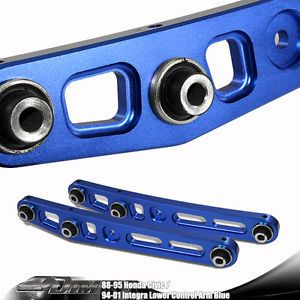 Honda Acura High Performance Blue Alminum Rear Lower Control Arm Suspension Kit