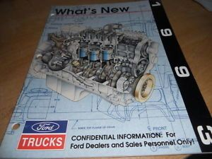 1993 Ford Heavy Duty Truck Dealer Only Marketing Manual
