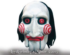 Officially Licensed Saw Clown Halloween Mask Prop Horror Jigsaw Serial Killer