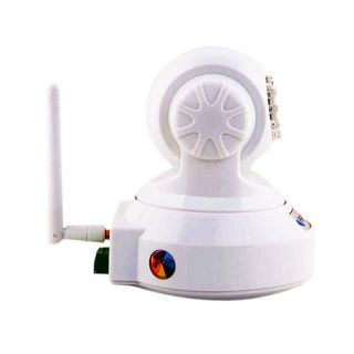 Wireless IP Camera WiFi Pan Tilt IP Webcam Nightvision Security System White