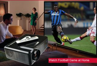 3000 Lumen Home HD 1080p LED Projector Theater 1080p HDMI USB SD VGA 3D Effect