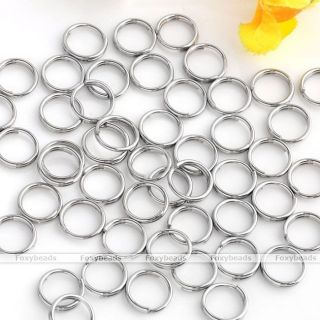 300p Stainless Steel Double Loop Jump Rings 6mm Jewelry Findings Link Connectors