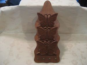 Vintage Wood Butterfly Wall Hanging Mail Letter Organizer Key Holder