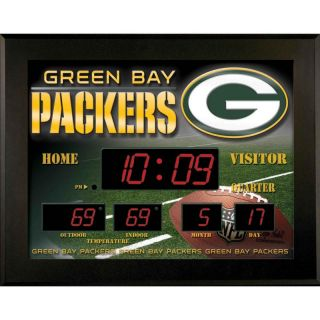 Green Bay Packers Illuminated Scoreboard LED Wall Clock