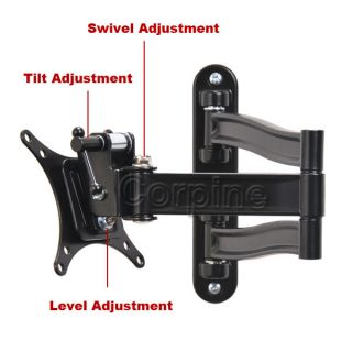 Full Motion LCD LED Monitor Flat TV Tilt Swivel Wall Mount 19 20 22 23 26 27 MCY