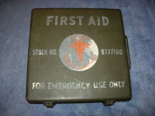 Original US Army 24 Unit First Aid Kit Can with Label