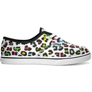 Vans Authentic Lo Pro Kids Shoe White footwear Shoes Neon Leopard True All Sizes