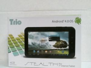 Trio Android 4 0 OS 7 inches Stealth Pro Metal Internet Tablet 4GB Webcam WiFi
