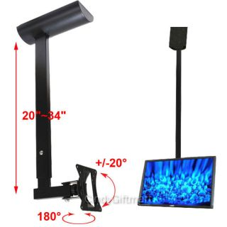 Tilt Swivel Ceiling Mount Flat Panel LCD LED Monitor TV 15 17 19 20 23 24 26 M07