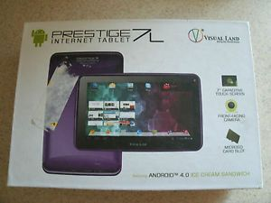"7"" Visual Land Prestige 7L 8GB 7 inch Touchscreen Android Internet Tablet Purple"
