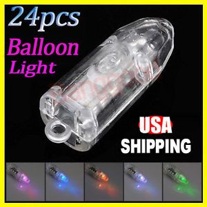 24x Colorful Flashing Balloon LED Light Lamp Fr Party Birthday Wedding Christmas