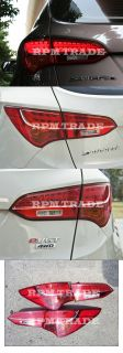 LED Tail Lights Lamp Assy 2013 Hyundai Santa FE DM Sports Genuine Parts
