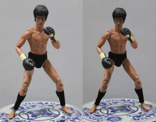 Enterbay Bruce Lee 1 6 Enter The Dragon Boxing Gloves Gear Figure DX04 Head