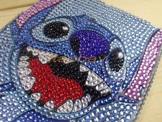 "Cover Case for iPad Mini 7 9"" Cute Cartoon Stitch Bling Crystal New"