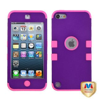 Pink Purple Protective Hybrid Tuff Hard Cover Case Apple iPod Touch 5g 5th Gen
