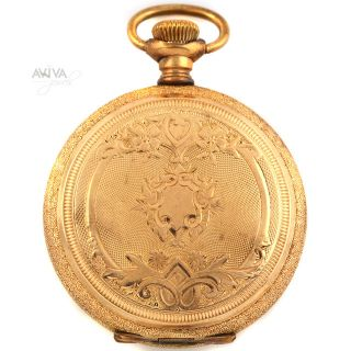 7 Jewel Elgin Ladies Hunting Case Pocket Watch