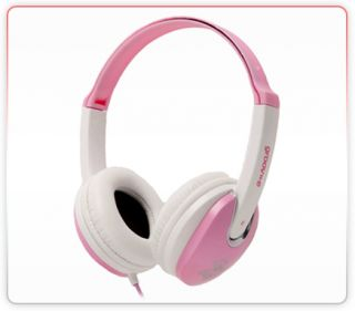 Groov E 3 5mm Jack Connection Kids Childrens Over The Head Headphones Pink