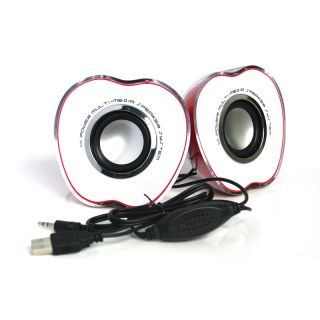 Mini USB LED Portable Speaker Music Player Red for Tablet PC Cellphone Hot Sell