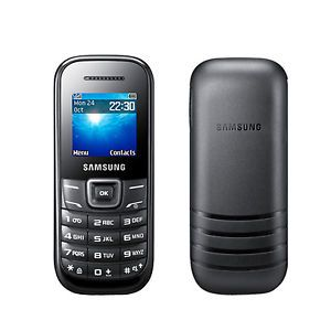 Samsung GT E1205L Keystone 2 Black Unlocked GSM Quadband Bar Cell Phone