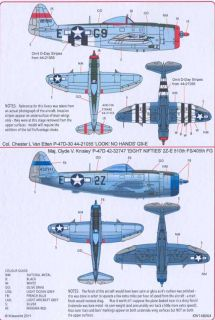 Kits World Decals 1 48 P 47D Thunderbolt 405th Fighter Group