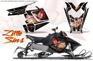 Polaris Rush Pro RMK 600 800 Sled Snowmobile Graphics Kit Creatorx Wrap LSB