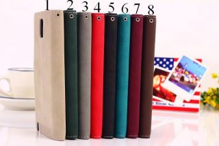 8 Colors Magnetic Flip Leather Credit Card Slots Holder Wallet Stand Case Cover
