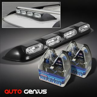 Oval Shape Roof Top Light Bar Off Road Fog Lamps 4 Super White Light Bulbs