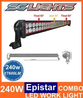 42inch 240W LED Light Bar Flood Spot Work Lights 4WD Ute Offroad Sekil 300W 180W