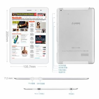 Teclast G18MINI 3G GPS Phone Call Android 4 2 Quad Core Tablet PC IPS 1 2GHz 16g