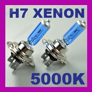 2 x H7 Xenon Halogen Bulb 5000K Car Super White Light Bulbs 12V 100W Headlights
