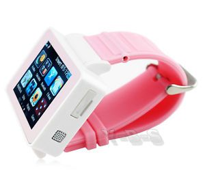 Unlocked 1 8'' Wrist Touch Screen Watch Mobile Cell Phone MP4 Bluetooth GSM GPRS