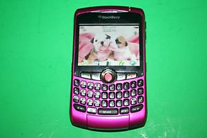 At T Blackberry Curve 8320 Cell Phone Unlocked Pink WiFi T Mobile GSM Smartphone