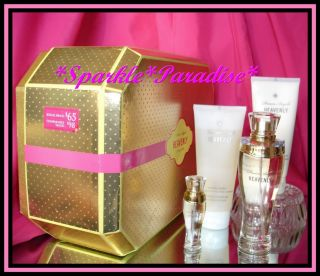 $98 Victoria Secret 4pc Dream Angels Heavenly Perfume Lotion Gold Gift Box Set