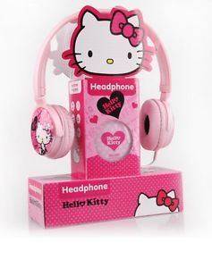 Hello Kitty Pink Cute Earphone Headphones Headset Cellphone Earphones Mic 3 5mm