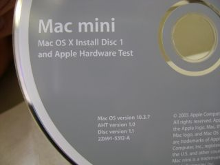 Apple Mac Mini G4 OS x Install Restore Software Disc Set 10 3 7 Panther