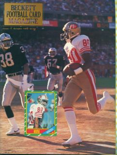 1990 Beckett Football Magazine Issue 7 Jerry Rice
