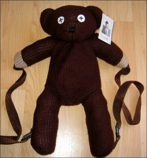 Official Mr Bean Teddy Bear Cute Plush School Backpack Bag RARE Discontinued