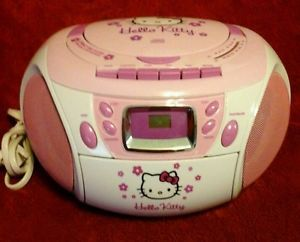 Hello Kitty Kids Girls Portable CD Cassette Player Recorder Radio Boombox