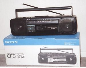 Sony Portable Am FM Radio Cassette Player Recorder Boombox CFS 212 New