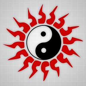 Chinese Tribal Sun Decal Chinese Yin Yang Martial Arts Taekwondo Wall Sticker