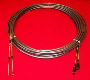 Pair of Yamaha 25' Outboard Motor Control Cables w Adapters